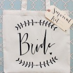 Wedding bride survival kit bag.