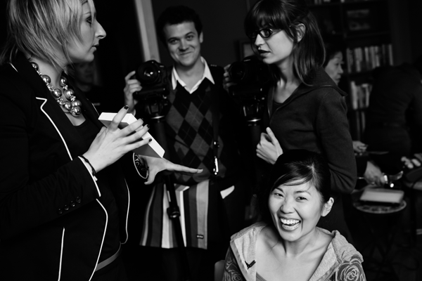 Jamie Chang destination wedding planner of Mango Muse Events and her photo and video team at her destination wedding in Paris.