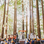 Wedding ceremony photo taken in Santa Cruz. Event design by Jamie Chang destination wedding planner of Mango Muse Events.