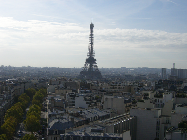 View of Eiffel Tower in Paris, France.