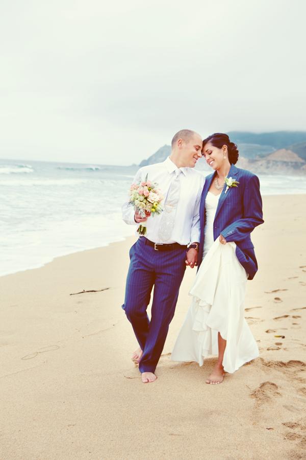 Beach Wedding At Half Moon Bay Mango Muse Events