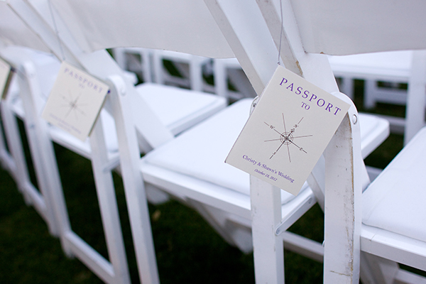 Passport wedding programs for a destination wedding by destination wedding planner Mango Muse Events