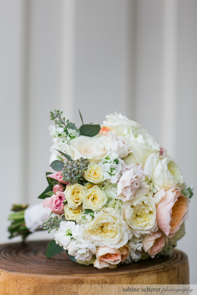 Carmel Destination Wedding Bouquet. Event Design by Jamie Chang of Mango Muse Events.
