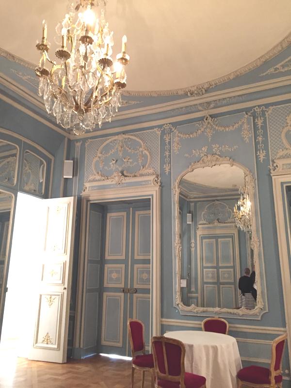 Downstairs room at the La Maison de Polytechniciens a destination wedding venue in Paris