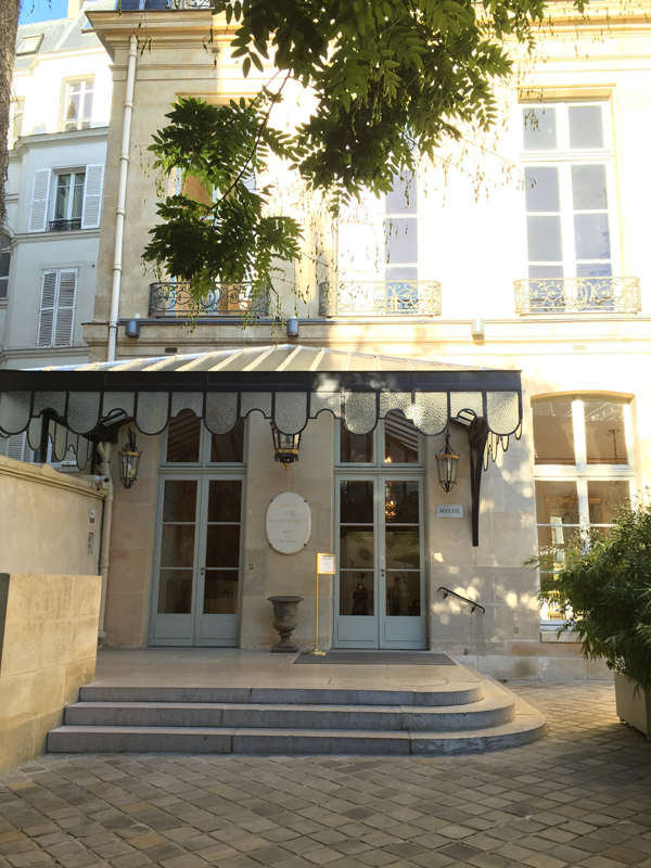 Front door of the La Maison de Polytechniciens a destination wedding venue in Paris
