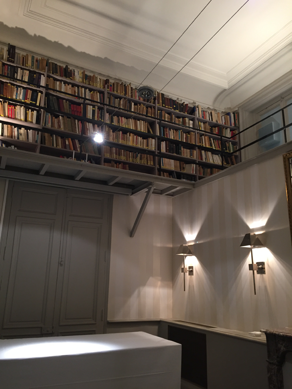 Library at the Salons France Ameriques a destination wedding venue in Paris