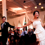 Newlywed couple dancing at reception in San Francisco. Wedding by Jamie Chang of Mango Muse Events.