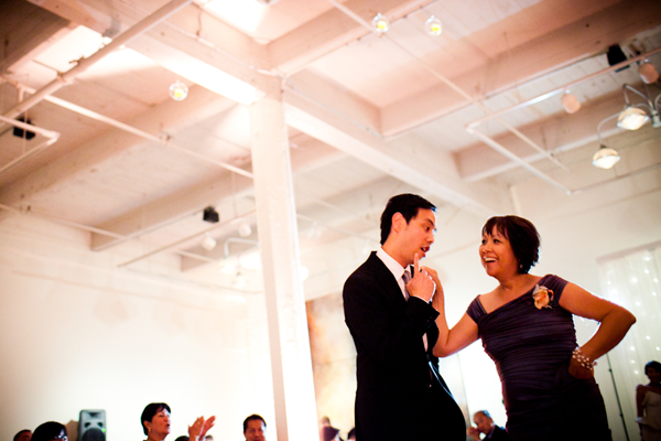 Mother son dance at wedding reception in San Francisco Wedding by Jamie Chang of Mango Muse Events.