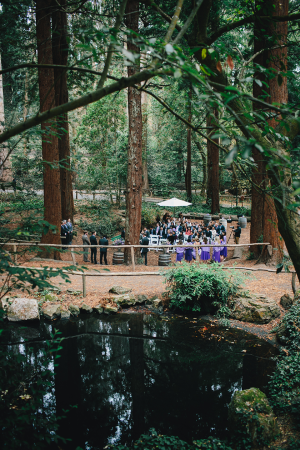 San Francisco wedding ceremony at Stern Grove amongst the redwoods planned by Destination wedding planner, Mango Muse Events