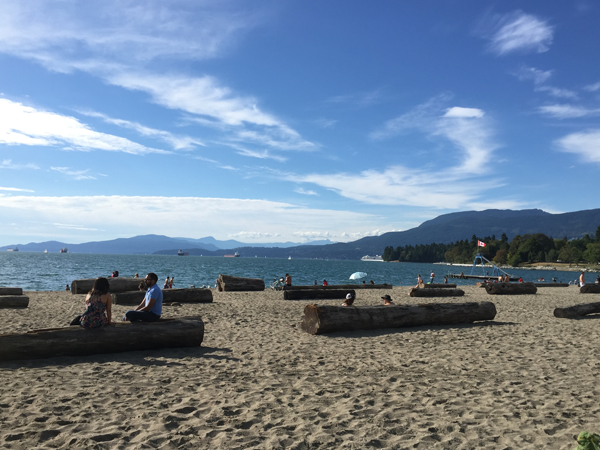 Beach in Vancouver. Photo taken by Jamie Chang destination wedding planner of Mango Muse Events.