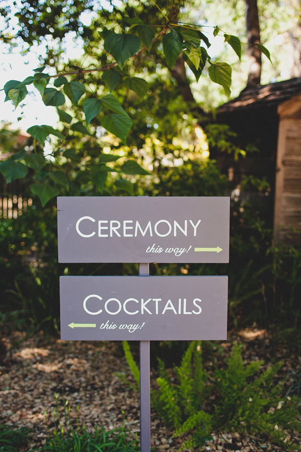 Wedding sign that provides directions. Event design by Jamie Chang of Mango Muse Events.