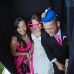 Photobooth at fun wedding in Sonoma. Event design by Jamie Chang at Mango Muse Events.