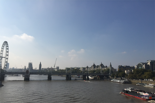 View of the Thames River in London by Jamie Chang