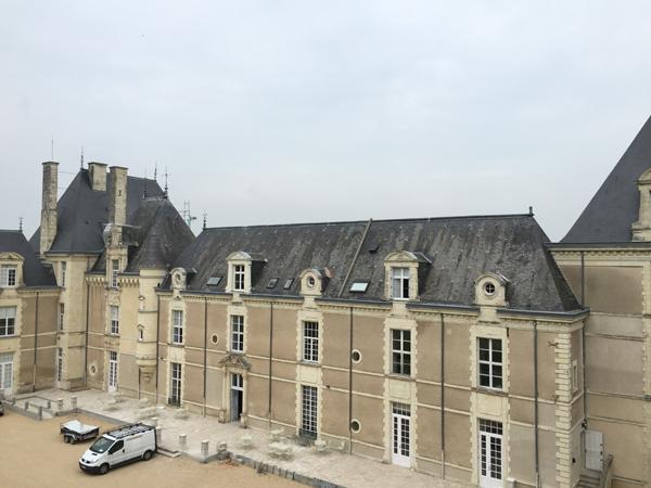 Front side of the Chateau de Jalesnes a Destination Wedding venue in France