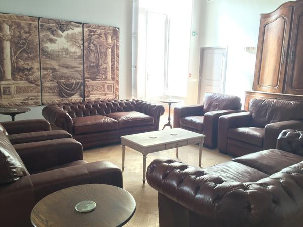Indoor lounge of Chateau de Jalesnes a Destination Wedding venue in France