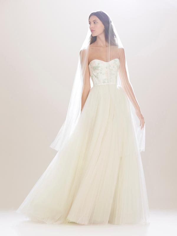 Carolina Herrera Tulle Bridal Gown Fall 2016
