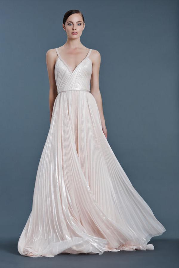 J Mendel Blush Wedding Dress Fall 2016