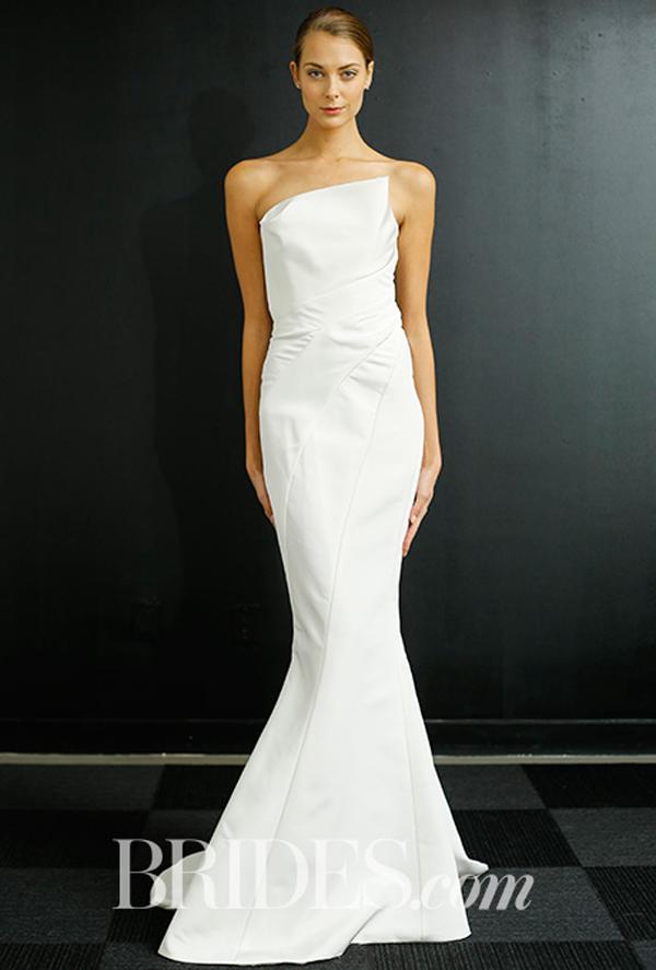 Asymmetrical J Mendel Wedding Gown Fall 2016