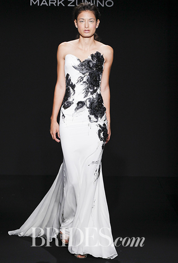 Mark Zunino Black and White Wedding dress Fall 2016