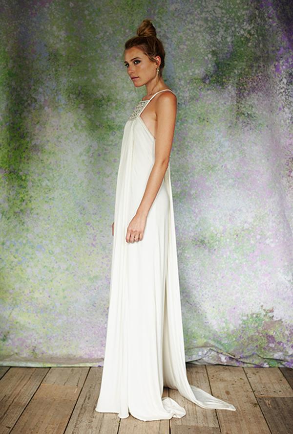 Boho wedding dress by Savannah Miller for Stone Fox Bride
