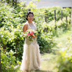 Bride on her wedding day at Cornerstone Winery in Sonoma. Wedding by Jamie Chang Destination Wedding Planner of Mango Muse Events