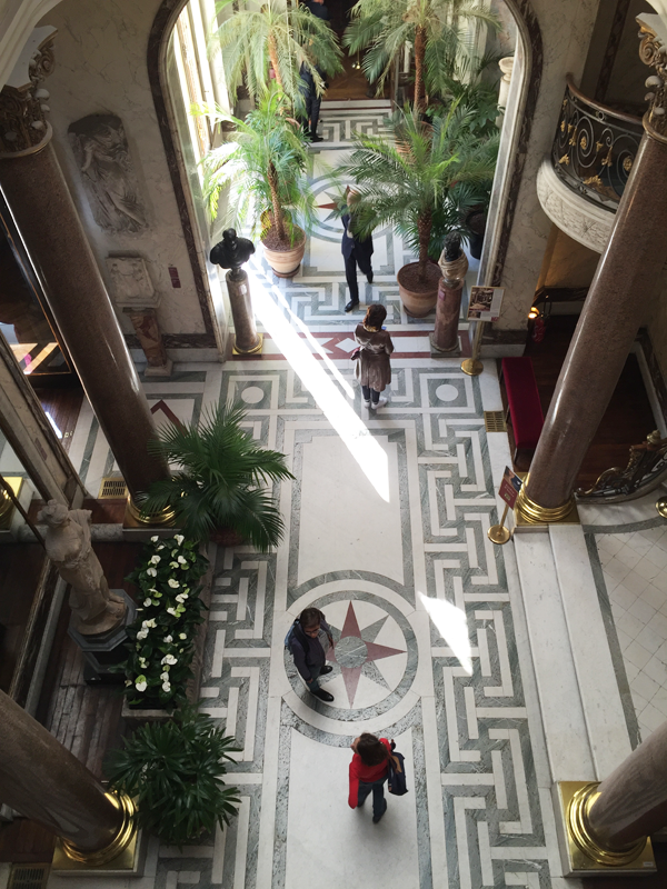 Jacquemart Andre museum winter garden floor Paris wedding venue Destination wedding planner Mango Muse Events