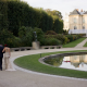 Outdoor destination wedding at the Rodin Museum wedding venue in Paris France by destination wedding planner Mango Muse Events