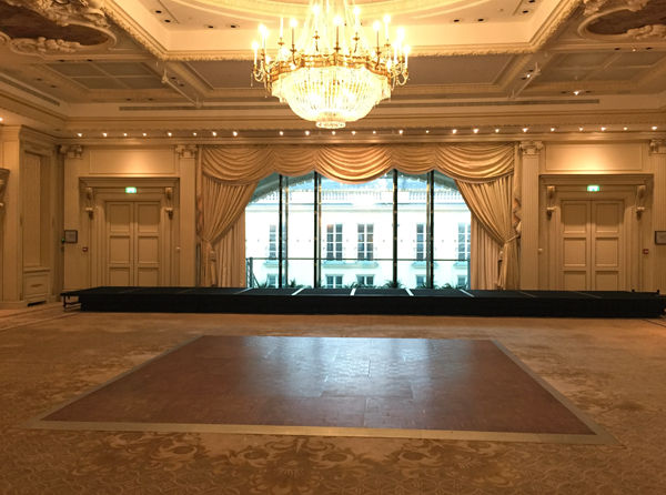 Ballroom reception room Shangri-La Hotel Paris Wedding Venue by Destination wedding planner Mango Muse Events