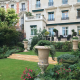 Outdoor garden Shangri-La Hotel Paris Wedding Venue by Destination wedding planner Mango Muse Events