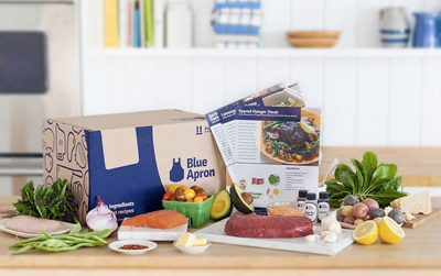 Blue Apron food delivery kit Christmas gift idea by Jamie Chang of Mango Muse Events