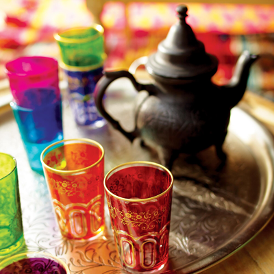 Moroccan tea glass set Christmas gift idea by Jamie Chang of Mango Muse Events
