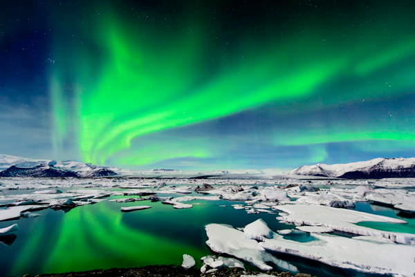 Northern lights in Iceland, a international travel destination