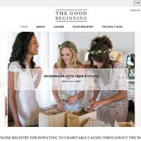 Charitable wedding registry The Good Beginning