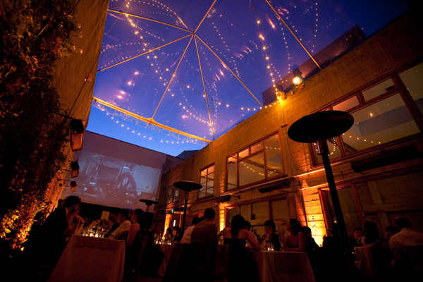Destination wedding venue Foreign Cinema in San Francisco, California