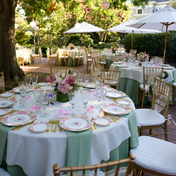 Destination wedding venue Gamble Garden in Palo Alto, California