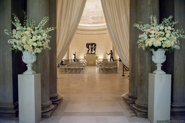 Destination wedding venue Legion of Honor Museum in San Francisco