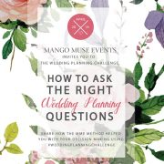 April wedding planning challenge created by Destination wedding planner Mango Muse Events
