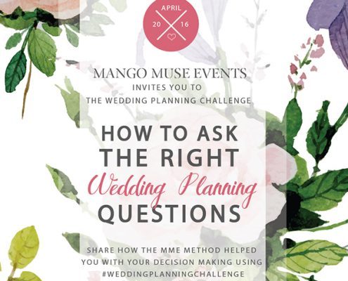 April wedding planning challenge created by Destination wedding planner Mango Muse Events