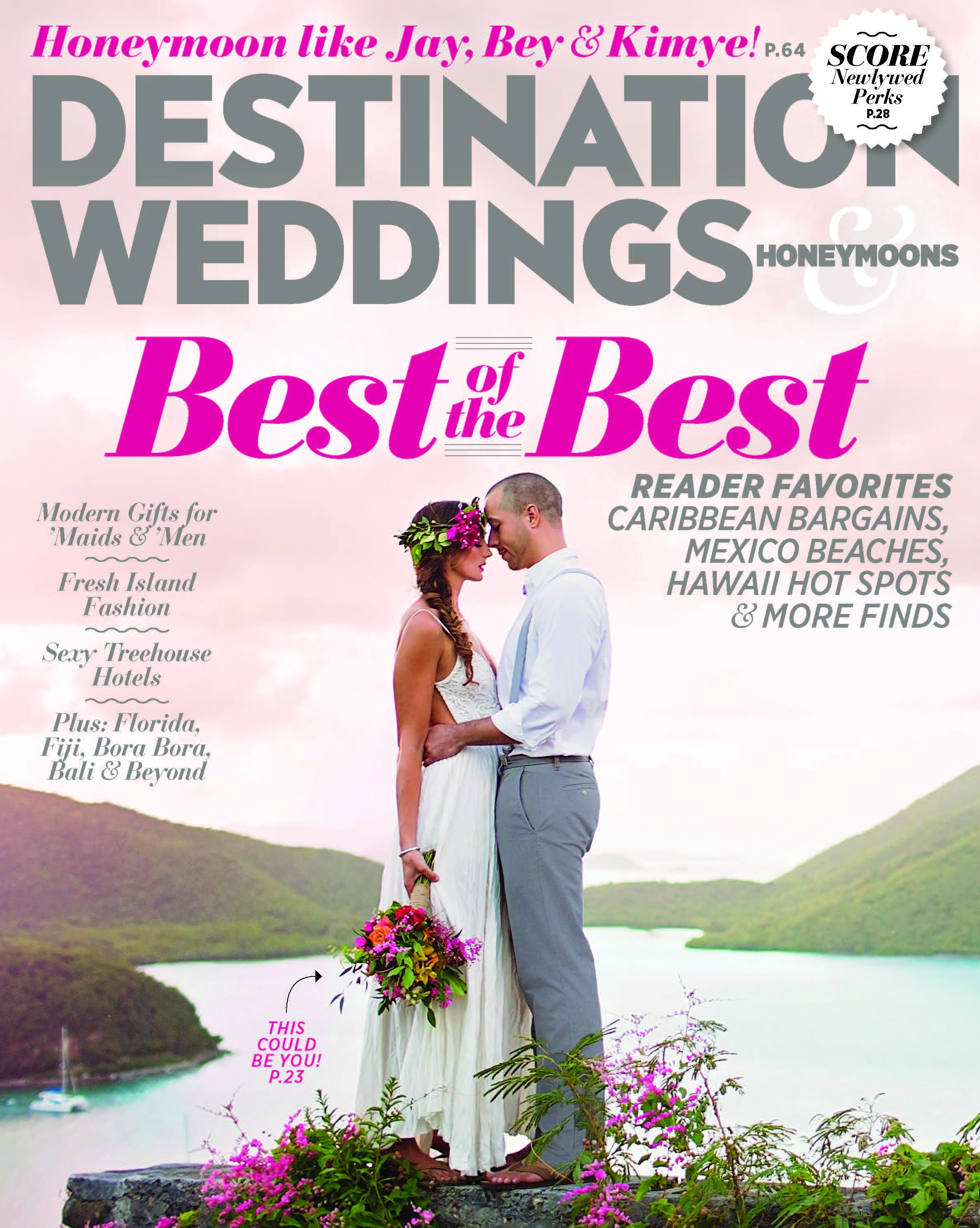 Destination weddings and honeymoons magazine featured Destination wedding planner Mango Muse Events