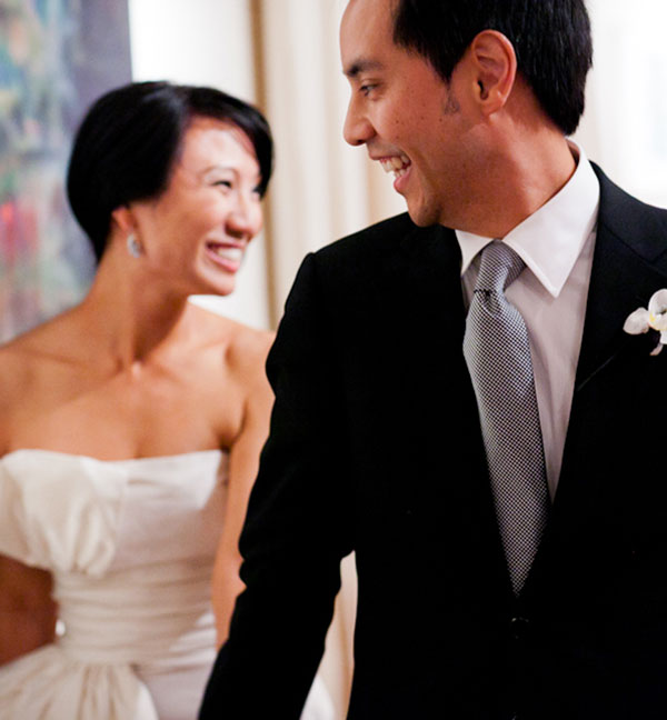 Happy bride and groom at their San Francisco destiantion wedding by Destination wedding planner Mango Muse Events