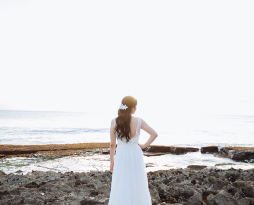 Bride in a Wedding Dress for a Hawaii Destination Wedding Planned by Mango Muse Events