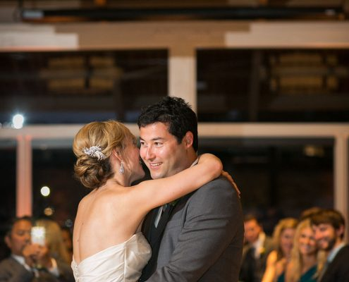 First dance smile at a Carmel destination wedding by Destination wedding planner Mango Muse Events