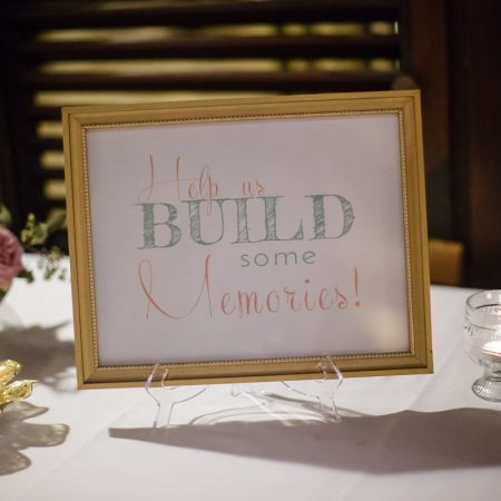 Guest book jenga sign at a Caribbean destination wedding by Destination wedding planner Mango Muse Events