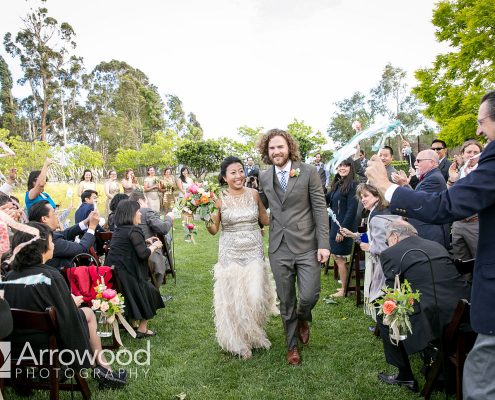 Happy couple just married at their Sonoma destination wedding by Destination wedding planner Mango Muse Events