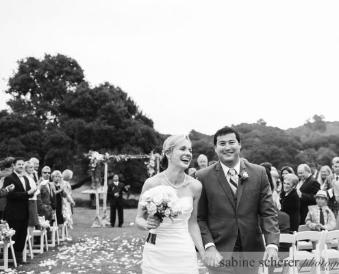 Bride and groom just married at their Carmel destination wedding by Destination wedding planner Mango Muse Events