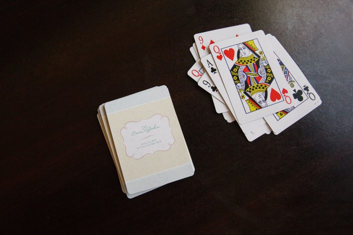 Customized playing cards as a welcome gift for a Caribbean destination wedding by Destination wedding planner Mango Muse Events