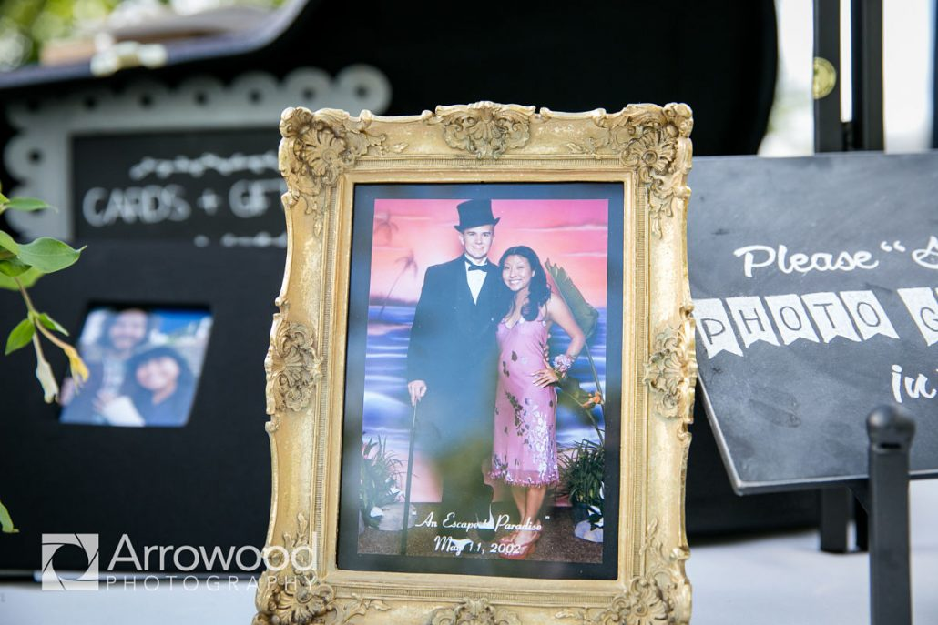 Prom photo of bride and groom at their Sonoma destination wedding by Destination wedding planner Mango Muse Events
