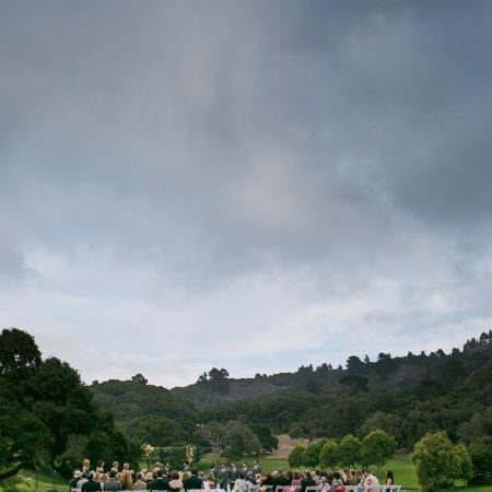 Quail meadows wedding ceremony in Carmel by Destination wedding planner Mango Muse Events