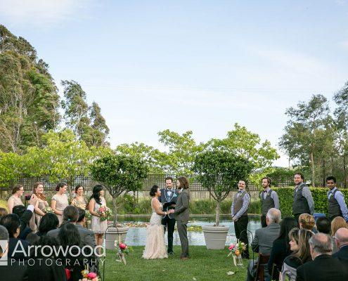Wedding ceremony at Cornerstone Sonoma by Destination wedding planner Mango Muse Events