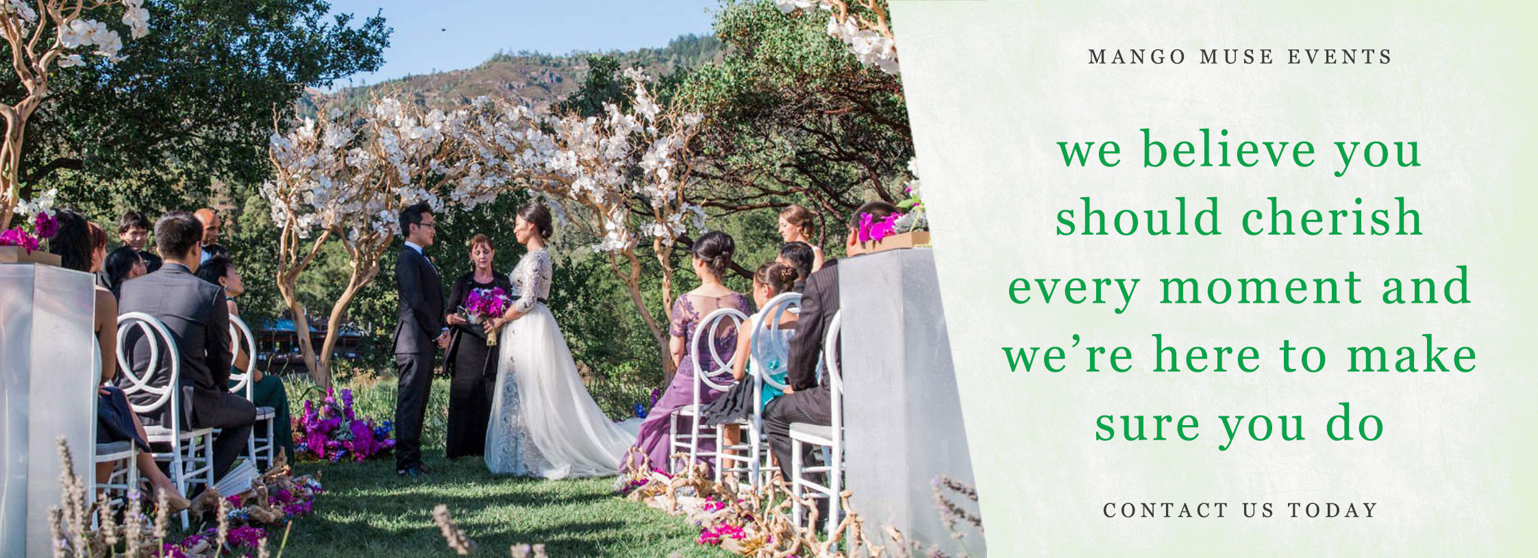 Luxury Calistoga Ranch wedding by Destination wedding planner Mango Muse Events